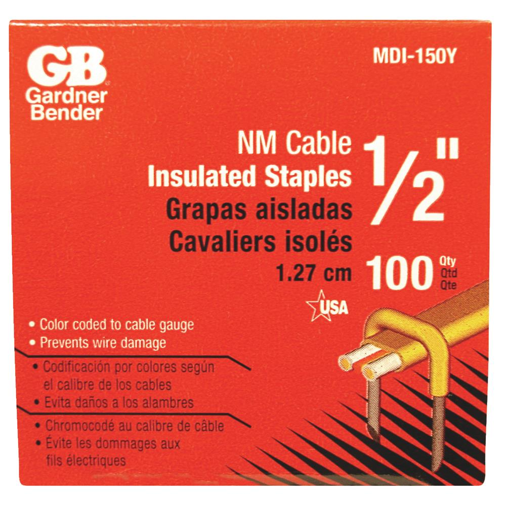 "GB Electrical 1/2"" Insul Cable Staple MDI-150Y"