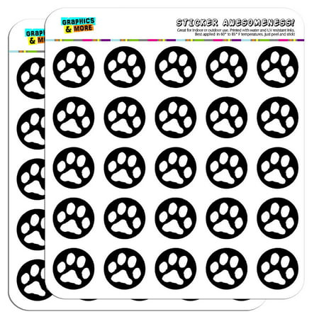 Paw print pet dog cat b scrapbooking crafting stickers