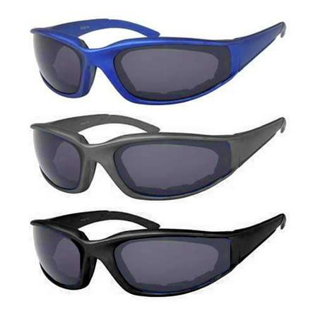 2 Sports Sunglasses Padded Cushion Frame UV400 Sun Shades Mens Eyewear Glasses ()