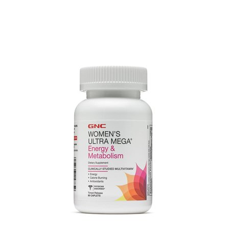 GNC Women's Ultra Mega Energy and Metabolism Multivitamin, Time Release Capsules, 90 (Gnu Womens Snowboard)