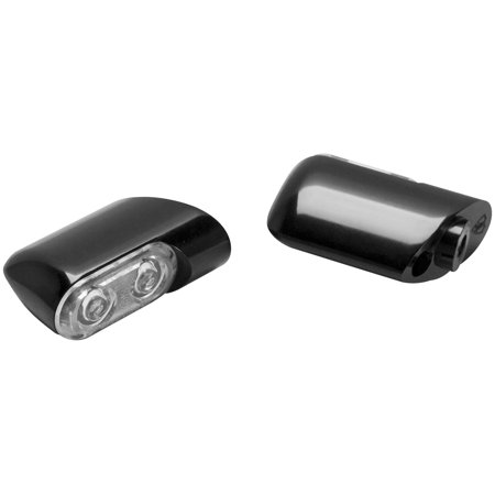 Arlen Ness 12-761 Direct Bolt-On Front Turn Signals with Power LED - Black  Anodized - Amber LED