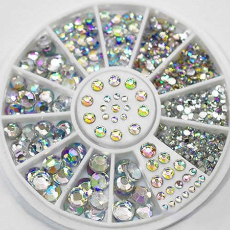 Outtop Diamonds Dazzling Tips Nail Sticker Sequins Colorful Nail Art - Halloween Nail Stickers Walmart