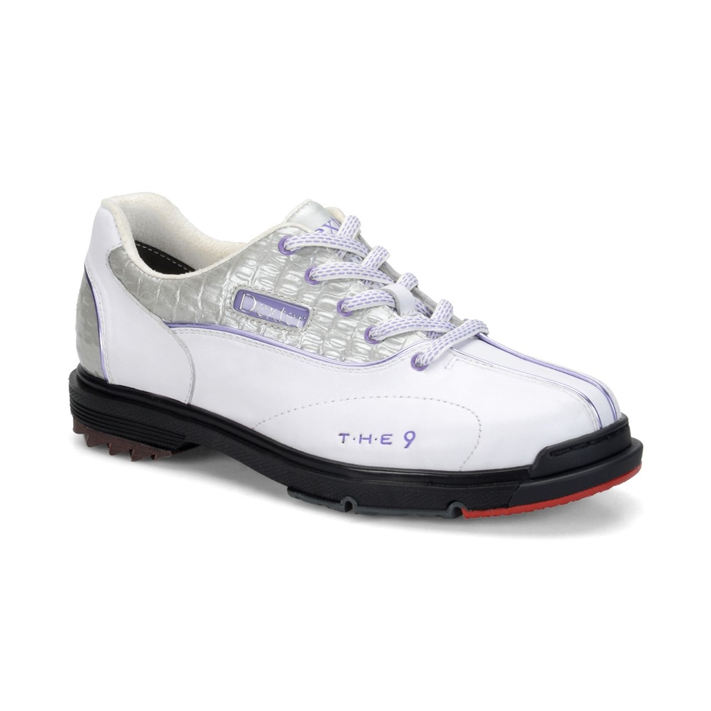 Dexter Womens SST The 9 Bowling Shoes Wide Width- White/S...