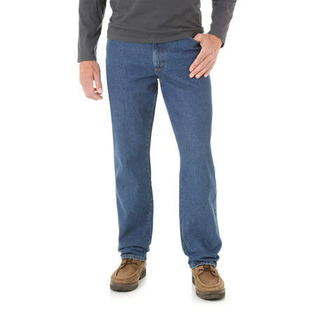 Rustler Men's and Big Men's Relaxed Fit Jeans Wash Relaxed Fit Jeans