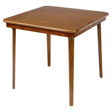 Hardwood Classic Straight Edge Folding Card table - Fruitwood finish ()