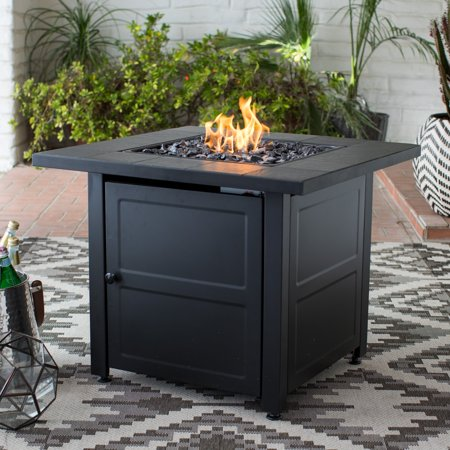 Propane Steam Table - Endless Summer Black Tile Mantle Liquid Propane Outdoor Fire Table