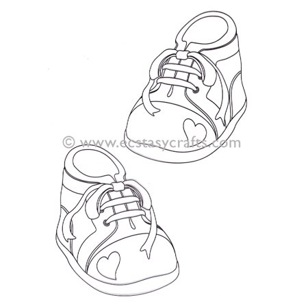LeCrea Doodle Clear Stamp - Baby - Baby Footprint Stamp