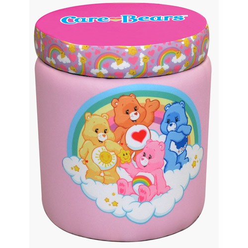 American Greetings Care Bears Rainbows Storage Ottoman