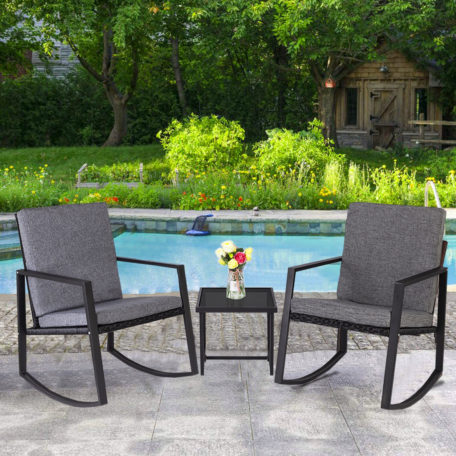 Details about  /73/'/' Porch Swing Frame Metal Black Patio Garden Yard Furniture Home Decor Solid