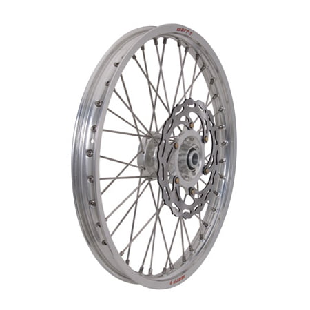 Warp 9 Complete Wheel Kit - Front 21 x 1.60 Silver Rim/Silver Hub/Silver Spokes and Nipples for KTM 530 XC-W (Front Spoked Rims)