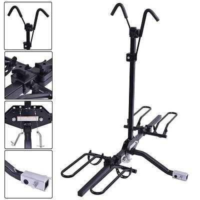 "Apontus 2 Bike Carrier Platform Hitch Rack Bicycle Fold Steel Receiver 2"" by Apontus"