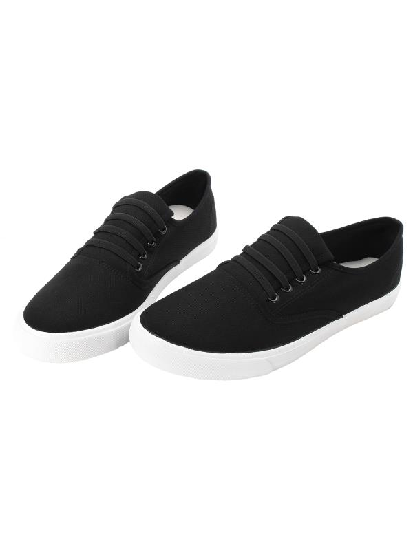 Meigar Men Casual Shoes Loafers White Black Shoes