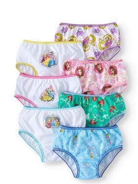 Disney Princess, Girls Underwear, 7 Pack Panties Sizes 4 - 8