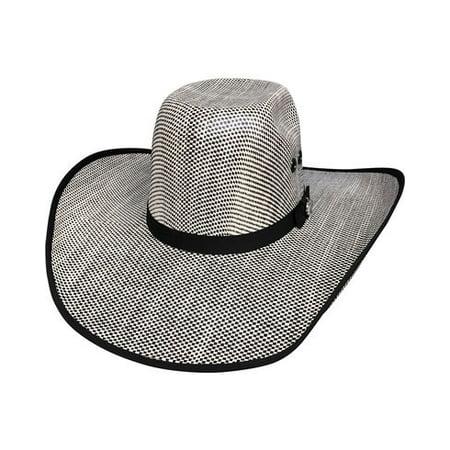 Bullhide - BULLHIDE SHADES OF BLACK 50X (BLACK IVORY) 6 3 4 Small Straw  Cowboy PBR Hat - Walmart.com a0aeb5fb59b