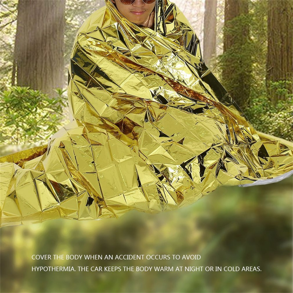 Multifunction Camping Travel Outdoor Waterproof Thermal Emergency Blanket by