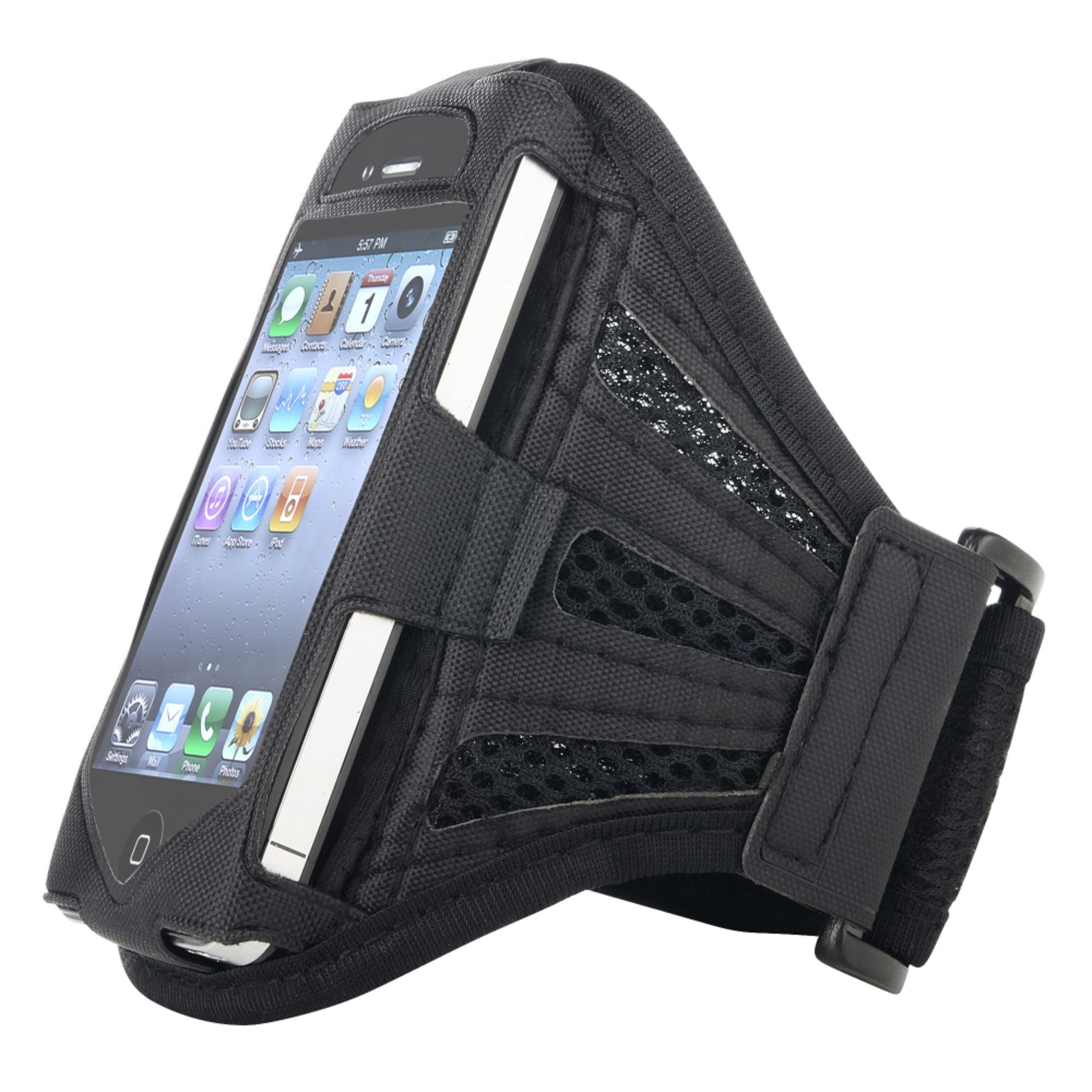 Insten Deluxe Armband For Apple iPhone 4 / 4S / 3G / 3GS / iPod touch, Black / Black