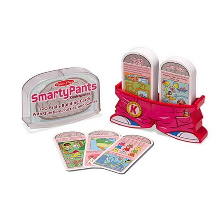 Melissa & Doug Smarty Pants Kindergarten Card Set - 120 Educational, Brain-Building Questions, Puzzles, and Games - Kindergarten Halloween Computer Games