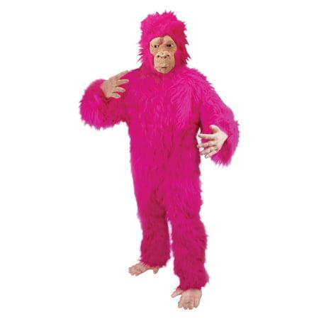Loftus Halloween Fuzzy Gorilla Adult Costume, Pink, One Size (Baby Godzilla Costume)