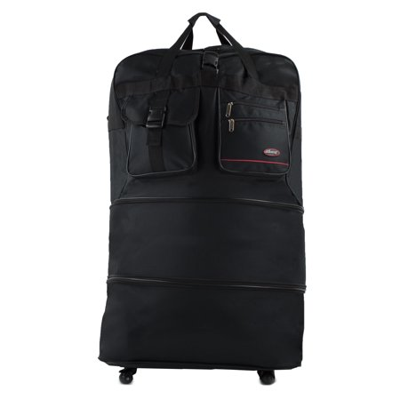 Black Expandable Bag - 30 in. Black Expandable 3-Layer Spinner Bag
