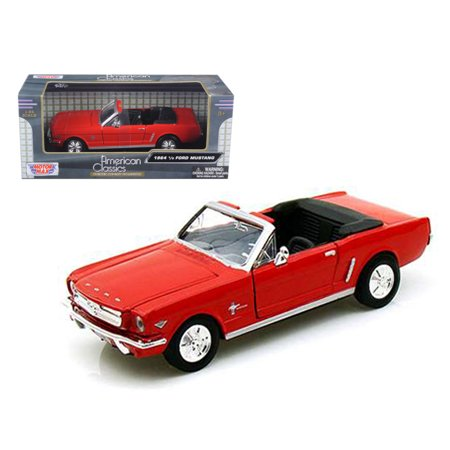1964 Ford Owners Manual - 1964 1/2 Ford Mustang Convertible Red 1/24 Diecast Car Model by Motormax