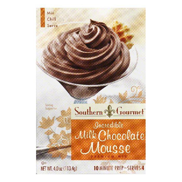 Southern Gourmet Incredible Milk Chocolate Premium Mousse Mix, 4 Oz (Pack of 6) by