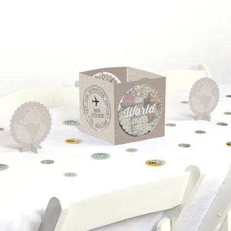 World Awaits - Travel Themed Party Centerpiece & Table Decoration - Music Themed Centerpieces