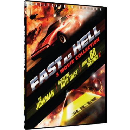 Fast As Hell: 3 Movie Collection The Junkman   Deadline Auto Theft   Gone In 60 Seconds II by