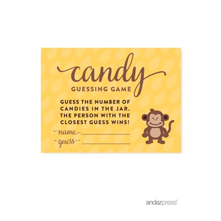 Candy Guessing Game  Jungle Safari Baby Shower Games, 30-Pack