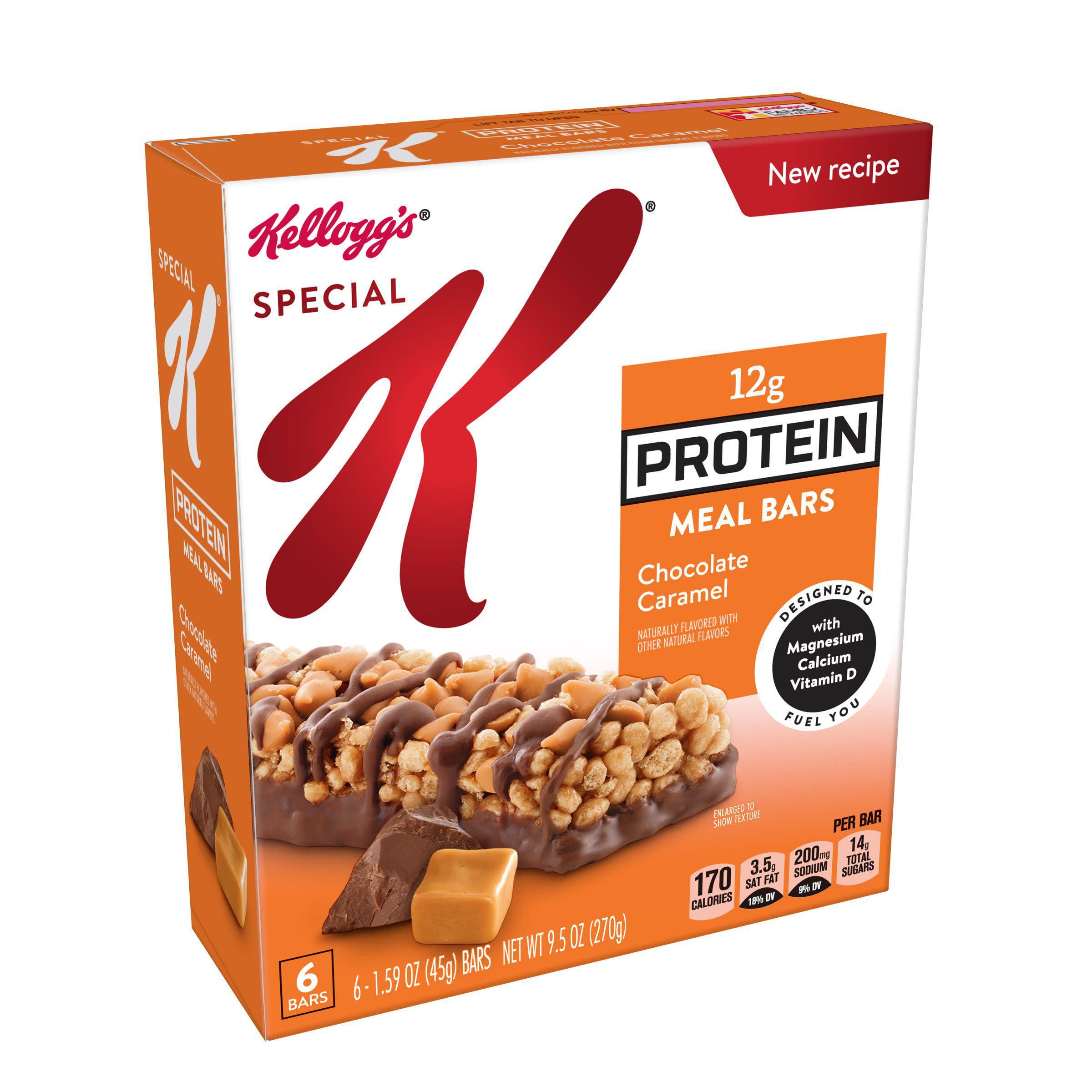 Kellogg's Special K Protein Meal Bar Chocolate Caramel 9.5 oz 6 Ct