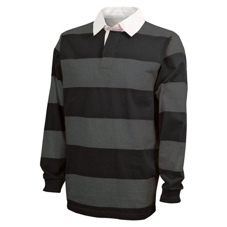 - Charles River Apparel Men's Stylish Striped Rugby Shirt