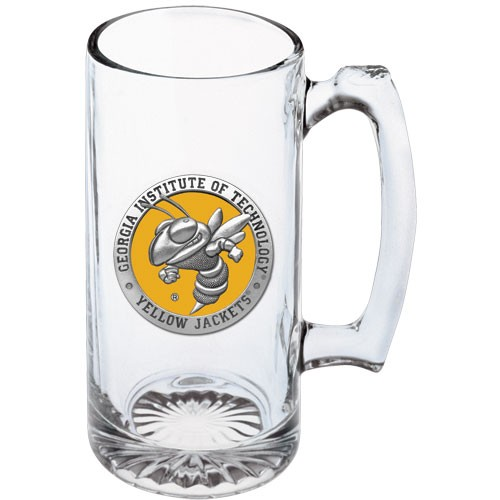 Georgia Tech Yellow Jackets Mascot Logo Super Stein Mug