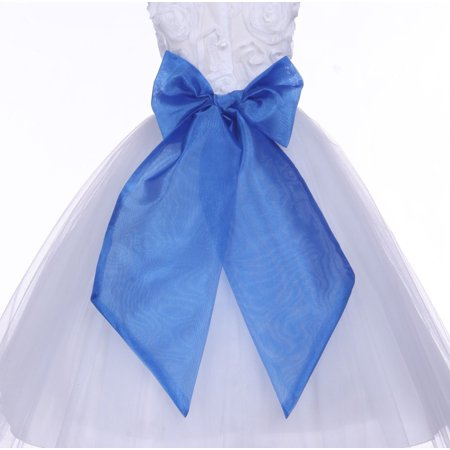 Royal Blue Organza Sash Wide Sash for Wedding Special Occasion Accessories Decoration Supplies Bridal Shower M