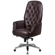 Delacora Ff Go S 11 Barrel 28 Inch Wide Leather Accent Chair Black: Extra Wide Executive Chairs