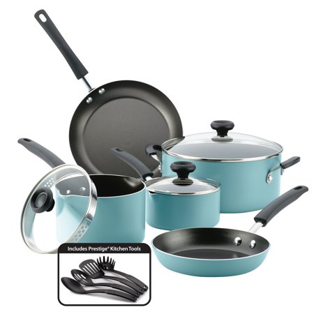 Farberware Easy Clean Aluminum Nonstick Cookware Set, 12 Piece