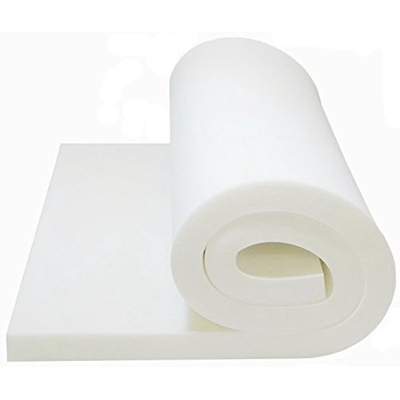 "Foam Cushion 1""T x 24""W x 80""L (1536) ""MEDIUM FIRM"" Seat Cushion Replacement Foam Cushion, Upholstery Foam Sheet, Foam Padding)"