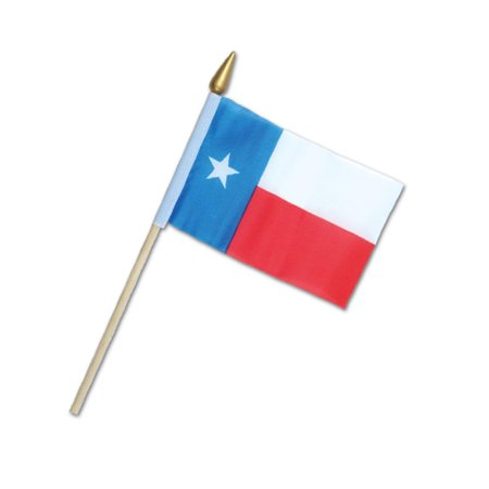 Club Pack of 12 Western Themed Red, White and Blue Texas Flag Party Decorations 9.5