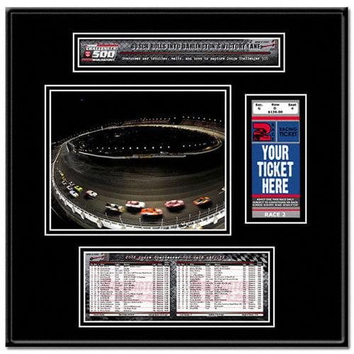 2008 Dodge Challenger 500 at Darlington Ticket Frame - Kyle Busch winner