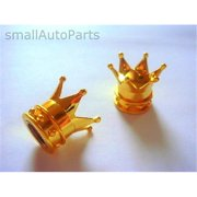 SmallAutoParts Gold Crown Valve Caps - Set Of 2