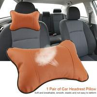 LYUMO 1Pc Soft Auto Car Seat Headrest Pillow Breathable Head Neck Support Cushion Pad, Auto Head Rest Pillow,Headrest Pillow