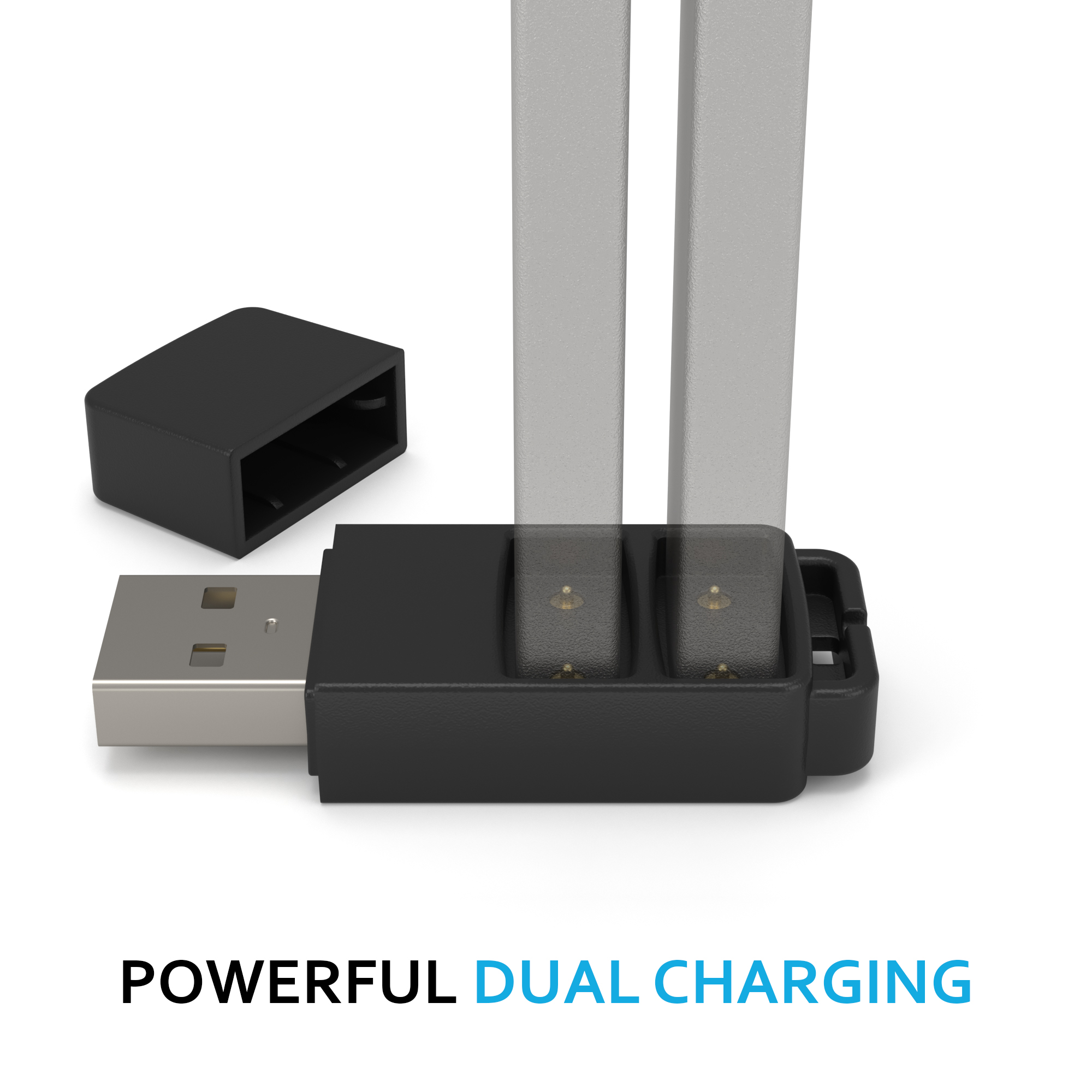 DUET Dual Charger for JUUL Battery, Charge TWO JUUL Batteries