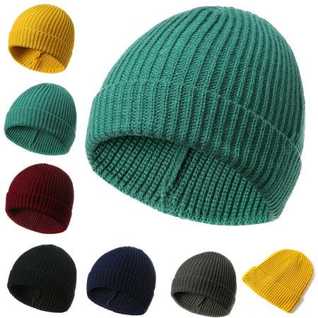 6ba12dcf7 Moderna Solid Color Beanie Cap Knitting Men Women Autumn Winter Soft Warm  Skiing Hat