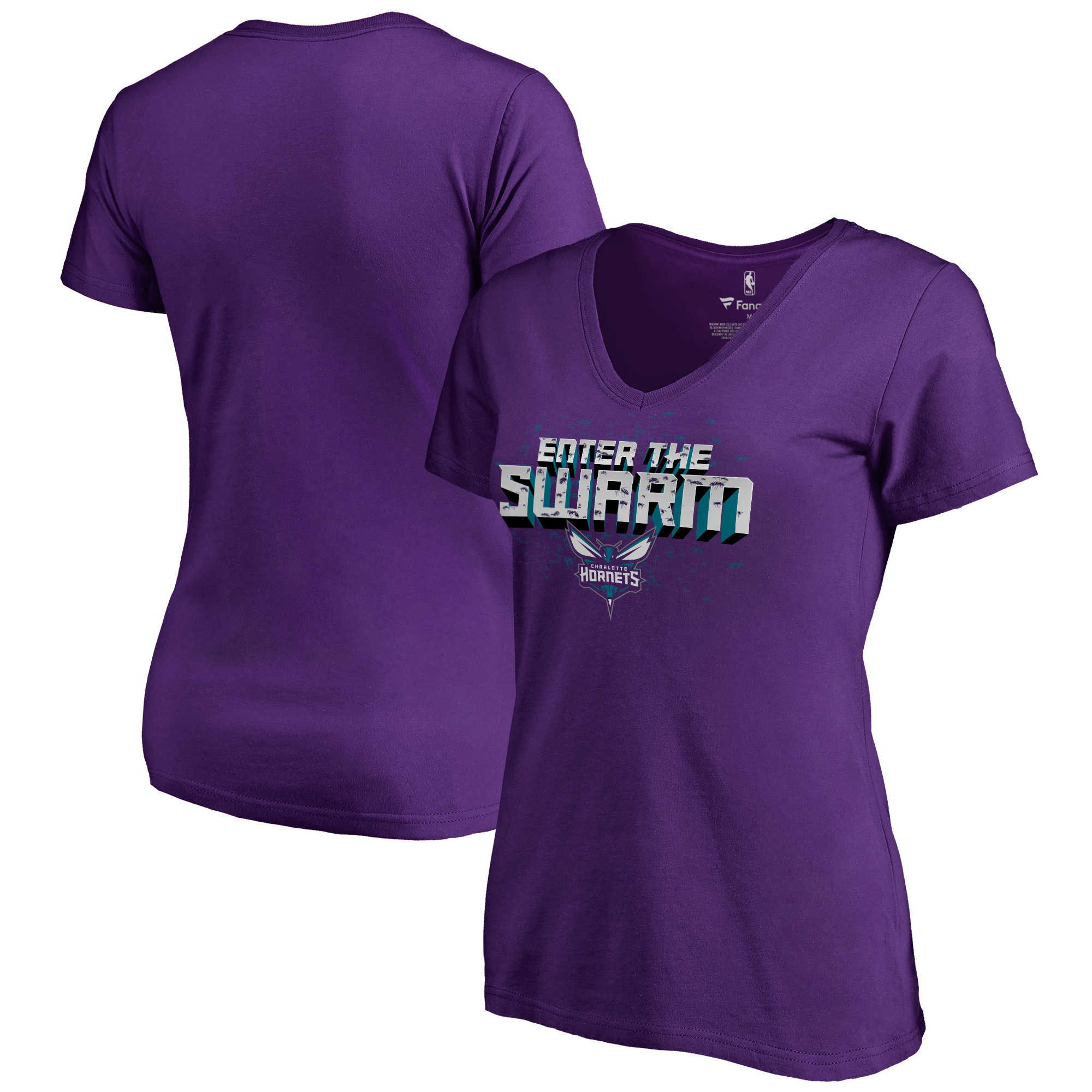 Charlotte Hornets Fanatics Branded Women's Hometown Collection The Swarm T-Shirt - Purple