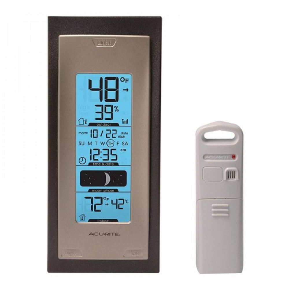 AcuRite 00592A4 Wireless Indoor Outdoor Thermometer with Humidity Sensor by AcuRite