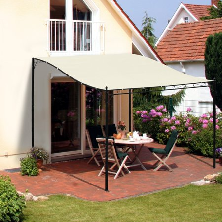 10' x 10' Steel Outdoor Pergola Patio Canopy Gazebo for Sunshade and Rain Protection Outdoors ()