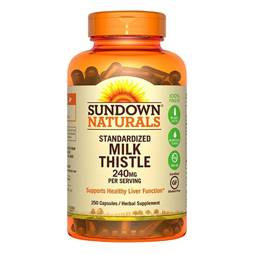 Sundown Naturals Milk Thistle Herbal Supplement Capsules, 240 Mg, 250 Ct