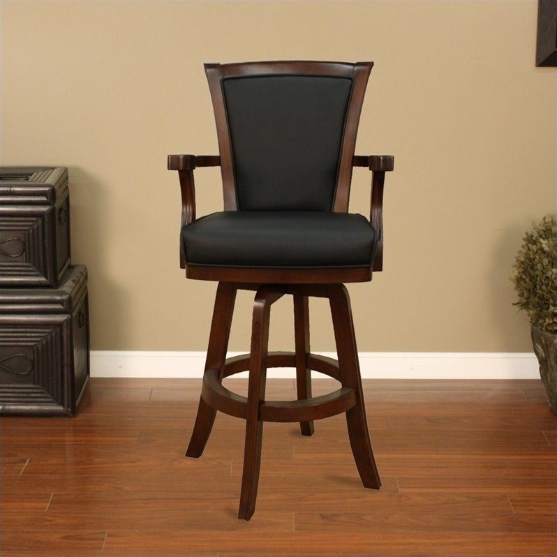 American Heritage Billiards Auburn 30 Quot Bar Stool In Suede