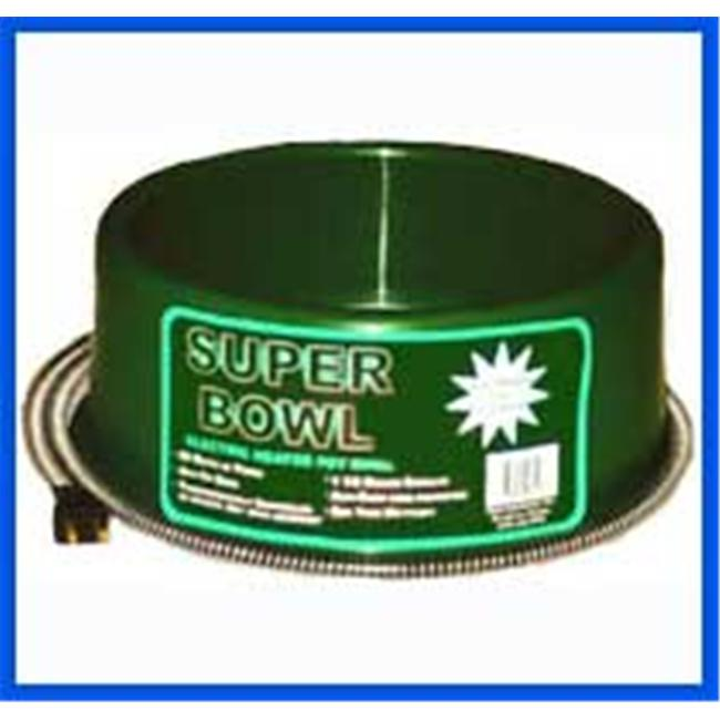 Farm Innovators Round Heated Pet Bowl - 60 Watt - Green