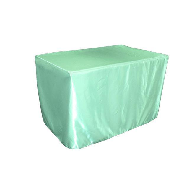 LA Linen TCbridal-fit-48x30x30-MintB44 Fitted Bridal Satin Tablecloth, Mint 48 x 30 x 30... by LA Linen