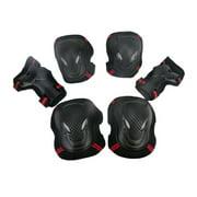 lzndeal 6Pcs/Set Skating Skateboard Roller Blading Elbow Knee Wrist Safety Protective Gear Sport Pad Guard New