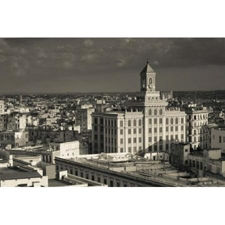 Cuba Havana Edificio Bacardi building Canvas Art - Walter Bibikow DanitaDelimont (18 x 12)
